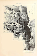 Balconies to monks' cells, Mar Saba, and a peep into the convent garden from the book Picturesque Palestine, Sinai, and Egypt By  Colonel Wilson, Charles William, Sir, 1836-1905. Published in New York by D. Appleton and Company in 1881  with engravings in steel and wood from original Drawings by Harry Fenn and J. D. Woodward Volume 1