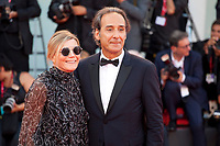 Venice, Italy, 30th August 2019, Dominique Lemonnier and Alexandre Desplat at the gala screening of the film J'Accuse (An Officer And A Spy) at the 76th Venice Film Festival, Sala Grande. Credit: Doreen Kennedy/Alamy Live News