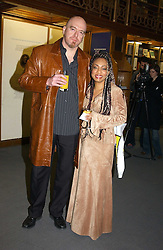 Singer DEBBIE SKEETE and her husband NEIL PYZER-SKEETE at a party to celebrate the publication of Treasure Islands - Britain's History Uncovered by Bill Wyman and Richard Havers held at The British Museum, London on 21st March 2005.<br /><br />NON EXCLUSIVE - WORLD RIGHTS