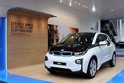 10.09.2013, Messegelaende, Frankfurt, GER, IAA 2013, im Bild 100 Prozent elektrischer BMW i3 // during the IAA 2013 at the Messegelaende in Frankfurt, Germany on 2013/09/10. EXPA Pictures © 2013, PhotoCredit: EXPA/ Eibner/ Global<br /> <br /> ***** ATTENTION - AUSTRIA ONLY *****