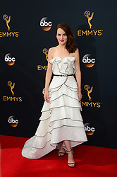 September 18, 2016 - Los Angeles, CA, USA - Michelle Dockery arrives at the 68th Annual Emmy Awards at the Microsoft Theater in Los Angeles, California on Sunday, September 18, 2016. (Credit Image: © Michael Owen Baker/Los Angeles Daily News via ZUMA Wire)
