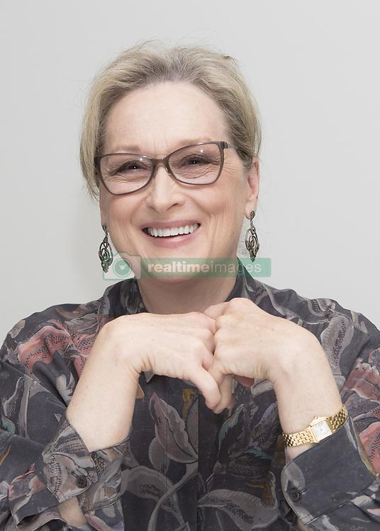 January 23, 2018 - FILE - 90th Oscar Awards Nominations 2018 Nominees - ACTRESS IN A LEADING ROLE - Meryl Streep, The Post - November 29, 2017 - Hollywood, California, U.S. - Actress MERYL STREEP promotes movie drama 'The Post' In Hollywood. (Credit Image: © Armando Gallo via ZUMA Studio)