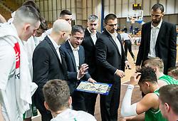 Aleksandar Saso Nikitovic, coach of Petrol Olimpija during basketball match between KK Ilirija and KK Petrol Olimpija in Round #8 of Liga Nova KBM 2018/19, on December 4, 2018 in Arena Tivoli, Ljubljana, Slovenia. Photo by Vid Ponikvar / Sportida