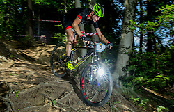 Gregor Krajnc during Cross Country XC Mountain bike race for Slovenian National Championship in Kamnik, on July 12, 2015 in Kamnik,  Slovenia. Photo by Vid Ponikvar / Sportida