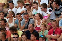 Visitors during a tennis match in 1st round of singles at 24 ATP Vegeta Croatia Umag 2013, on July 23, 2013, in Umag, Croatia. (Photo by Urban Urbanc / Sportida)