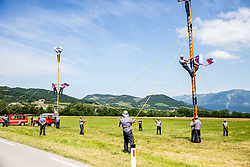 Fans during the 4th Stage of 27th Tour of Slovenia 2021 cycling race between Ajdovscina and Nova Gorica (164,1 km), on June 12, 2021 in Ajdovscina - Nova Gorica, Ajdovscina - Nova Gorica, Slovenia. Photo by Vid Ponikvar / Sportida