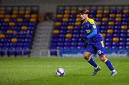 AFC Wimbledon attacker Ryan Longman (29) about to pass the ball during the EFL Sky Bet League 1 match between AFC Wimbledon and Bristol Rovers at Plough Lane, London, United Kingdom on 5 December 2020.