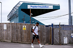 Jonah Ayunga of Bristol Rovers arrives at The Memorial Stadium for the Leasing.com Trophy match against Walsall - Mandatory by-line: Robbie Stephenson/JMP - 08/09/2020 - FOOTBALL - Memorial Stadium - Bristol, England - Bristol Rovers v Walsall - Leasing.com Trophy