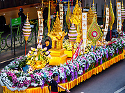 15 NOVEMBER 2017 - BANGKOK, THAILAND: The Thai tourism parade starts near the National Stadium BTS stop in Bangkok. The parade is supposed to highlight the charms of Thai Tourism.    PHOTO BY JACK KURTZ