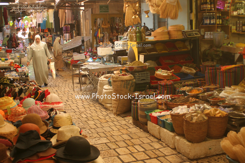 Israel, western Galilee, Acre, The old city market stand