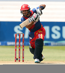 RR Hendricks of the Bizhub Highveld Lions during the T20 Challenge cricket match between the Lions and the Warriors at the Kingsmead stadium in Durban, KwaZulu Natal, South Africa on the 4th December 2016<br /> <br /> Photo by:   Steve Haag / Real Time Images