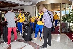 25.05.2012, Hotel Seeresidenz, Walchsee, AUT, UEFA EURO 2012, Trainingscamp, Ukraine, Training, im Bild Maksim Koval, (UKR) und Bohdan Butko, (UKR)// during the arrival at the Hotel Seeresidenz of Ukraine National Footballteam for preparation UEFA EURO 2012 at Hotel Seeresidenz, Walchsee, Austria on 2012/05/25. EXPA Pictures © 2012, PhotoCredit: EXPA/ Juergen Feichter