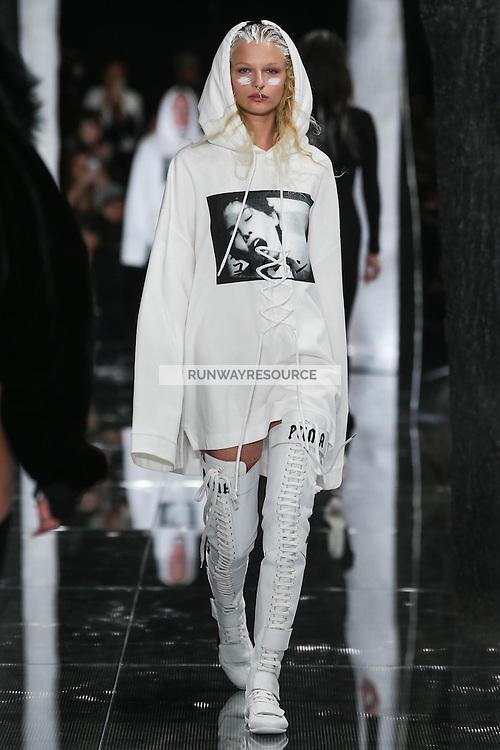 Frederikke Sofie walks the runway wearing PUMA x FENTY by Rihanna Fall 2016 during New York Fashion Week on February 12, 2016