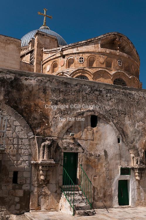 Israël, Jérusalem, vielle ville classé au patrimoine mondial de l'Unesco, église du Saint-Sépulcre là où est le tombeau du Christ // Israel, Jerusalem at the world heritage patrimony of Unesco, church of the Holy Sepulchre