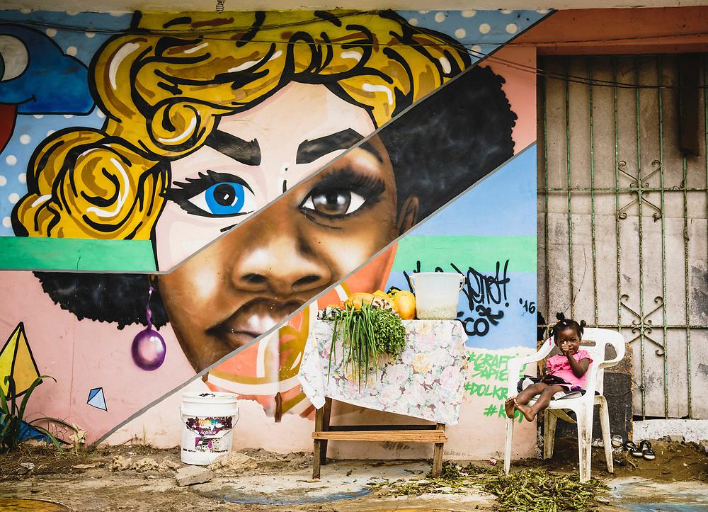 Big thumbs up for street art, Cabarete, Dominican Republic.
