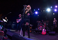 Jodie Cunningham band takes the stage on Saturday night at the Whiskey Barrel for their opening weekend in downtown Laconia.  (Karen Bobotas/for the Laconia Daily Sun)