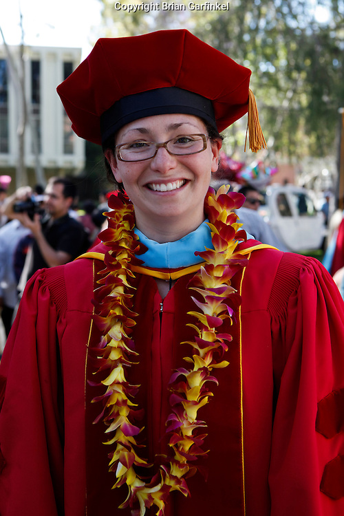 Kate at her Doctoral hooding ceremony at The University of Southern California on Wednesday, May 12th, 2011.