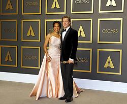 Brad Pitt and Regina King at the 92nd Academy Awards - Press Room held at the Dolby Theatre in Hollywood, USA on February 9, 2020.