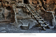 20x30 poster print of traditional ladder at cliff dwellings.