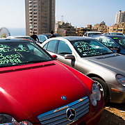 BEIRUT,LEBANON - JUNE 2009 :  Import used cars for sale. Manara district .<br /> Beirut. Lebanon. 06/03/2009 ( Photo by Jordi Cami)