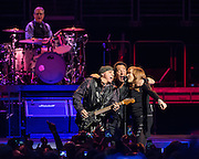 WASHINGTON, DC - January 29th, 2016 - Max Weinberg, Steven Van Zandt, Bruce Springsteen and Patti Scialfa perform at the Verizon Center during Springsteen's The River 2016 Tour. Springsteen and the E Street Band are performing the seminal 1980 album in full on the tour. (Photo by Kyle Gustafson / For The Washington Post)
