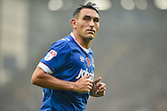 Portsmouth Midfielder, Gary Roberts (11) goal scorer from the penalty spot during the EFL Sky Bet League 2 match between Portsmouth and Mansfield Town at Fratton Park, Portsmouth, England on 12 November 2016. Photo by Adam Rivers.