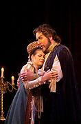 Gaston De Cardenas/El Nuevo Herald -- The Florida Grand Opera presentation of Boris Godunov with tenor James Morris in the role of Boris. Act. I scene 5: Boris tries to confort his daughter Xenia who is played by Sara Miller.