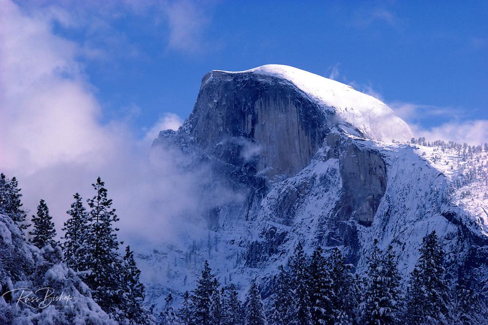 Half Dome after a winter storm, Yosemite National Park, California USA