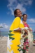Welcome, Takaroa, Tuamotu Islands, French Polynesia, (Editorial use only)<br />