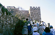 Swan Hellenic group of tourists visit the historic Crusader castle, Byblos, Lebanon 1998