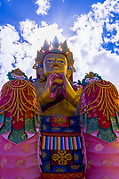 Maitreya Buddha statue, Diskit Monastery, Nubra Valley, Ladakh; Jammu and Kashmir State, India.