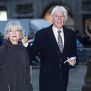 NLD/Amsterdam/20180203 - 80ste Verjaardag Pr. Beatrix, Paul van Vliet en partner Lidewij