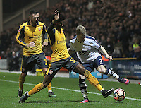 Preston North End's Daryl Horgan battles with Arsenal's Ainsley Maitland-Niles<br /> <br /> Photographer Mick Walker/CameraSport<br /> <br /> Emirates FA Cup Third Round - Preston North End v Arsenal - Saturday 7th January 2017 - Deepdale - Preston<br />  <br /> World Copyright © 2017 CameraSport. All rights reserved. 43 Linden Ave. Countesthorpe. Leicester. England. LE8 5PG - Tel: +44 (0) 116 277 4147 - admin@camerasport.com - www.camerasport.com