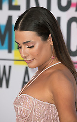 November 19, 2017 - Los Angeles, California, U.S - Lea Michele on the Red Carpet of the 2017 American Music Awards held on Sunday, November 19, 2017 at the Microsoft Theatre in Los Angeles, California. (Credit Image: © Prensa Internacional via ZUMA Wire)