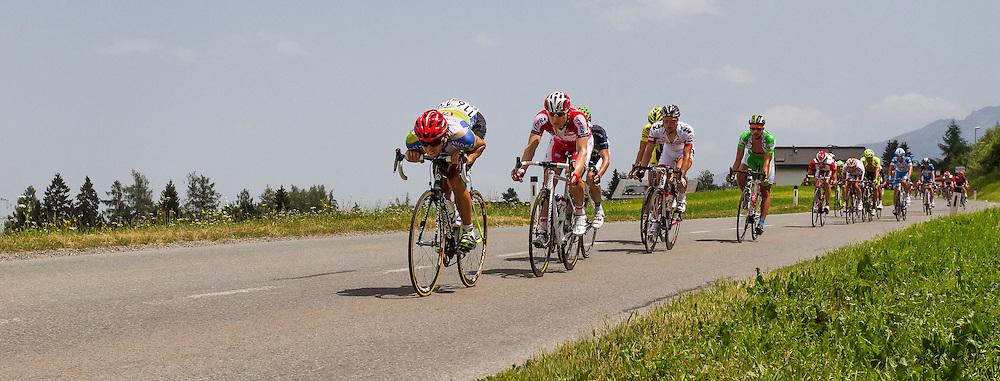 01.07.2012, Innsbruck, AUT, 64. Oesterreich Rundfahrt, 1. Etappe, EZF Innsbruck, im Bild Colli Daniele (USA) during the 64rd Tour of Austria, Stage 1, Individual time trial in Innsbruck, Austria on 2012/07/01
