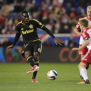 Tony Tchani, Columbus Crew SC, in action during the New York Red Bulls Vs Columbus Crew SC, Major League Soccer Eastern Conference Championship, second leg, at Red Bull Arena, Harrison, New Jersey. USA. 29th November 2015. Photo Tim Clayton