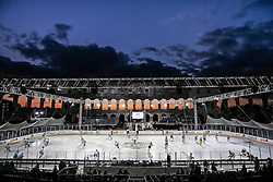 16.09.2012, Amphitheater, Pula, CRO, EBEL, Ice Fever, KHL Medvescak Zagreb vs UPC Vienna Capitals, 04. Runde, im Bild Sonnenuntergang bei der Arena davor die Eisflaeche mit den Spielern // during the Erste Bank Icehockey League 04th Round match betweeen KHL Medvescak Zagreb and UPC Vienna Capitals at the Amphitheater, Pula, Croatia on 2012/09/16. EXPA Pictures © 2012, PhotoCredit: EXPA/ Pixsell/ Zeljko Lukunic ****** ATTENTION - OUT OF CRO, SRB, MAZ, BIH and POL *****