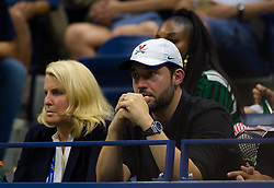 September 4, 2018 - Alexis Ohanian cheers on Serena Williams during her quarter-final match at the 2018 US Open Grand Slam tennis tournament. New York, USA. September 04, 2018. (Credit Image: © AFP7 via ZUMA Wire)