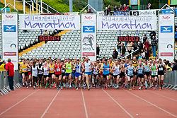 Sheffield Half Marathon Start Sunday Morning..12 May 2013.Image © Paul David Drabble