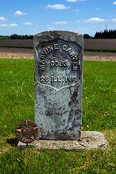 Hittle Grove Cemetery near Armington in Tazwell County.<br /> <br /> Marvin E Carter Co K 26 Ill INF