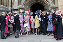 May 18, 2019 - Windsor, United Kingdom - Image licensed to i-Images Picture Agency. 18/05/2019. Windsor , United Kingdom. Royal family and guests  leaving the Lady Gabriella Windsor  wedding at St.George's Chapel, Windsor, United Kingdom. (Credit Image: © Stephen Lock/i-Images via ZUMA Press)
