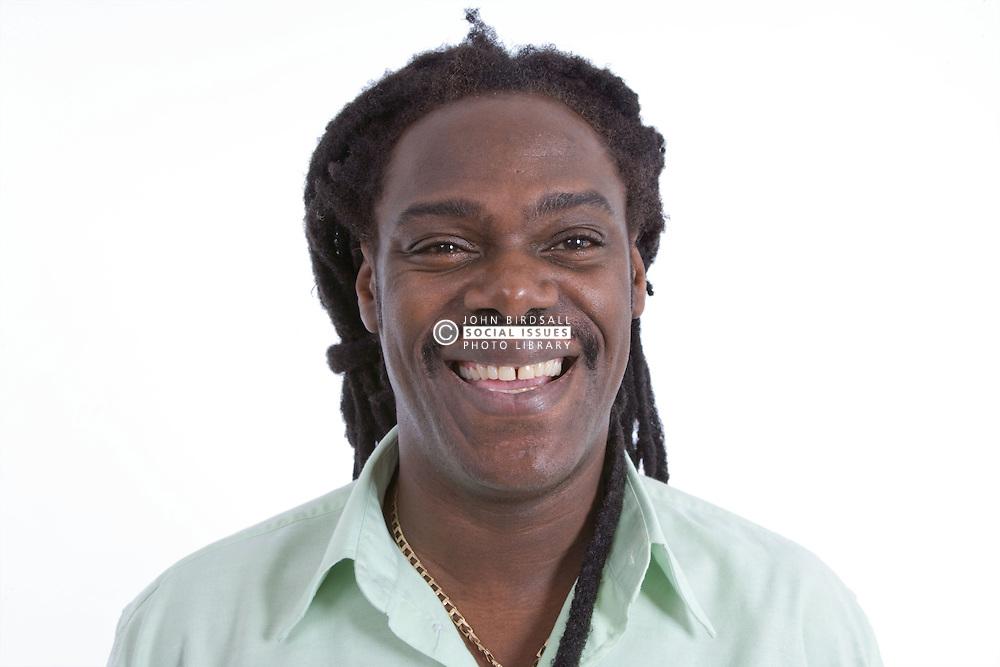 Portrait of a man smiling,