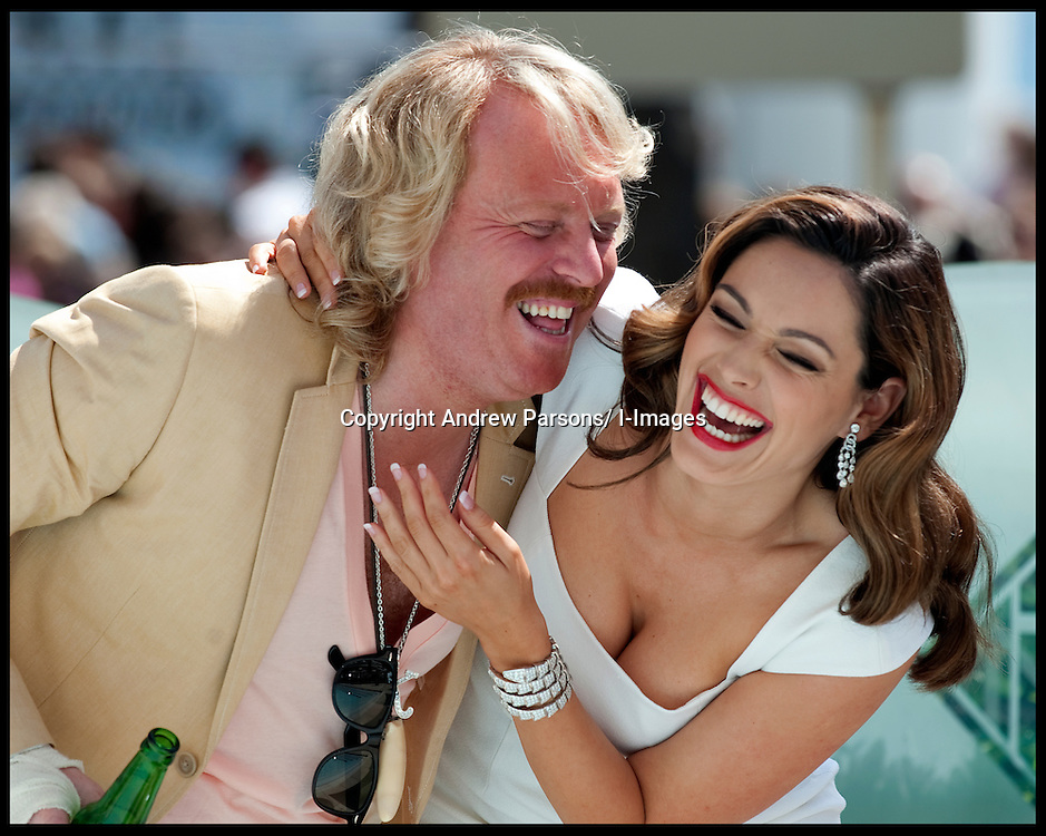 Kelly Brook and Keith Lemon pose for photographers as they promote the  film 'Keith Lemon the Film ' during the 65th Cannes Film Festival, Saturday May 19, 2012. Photo by Andrew Parsons/i-Images.