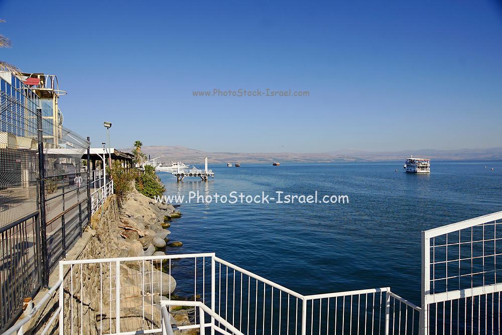 The Promenade along the Sea of Galilee at Tiberias, Israel