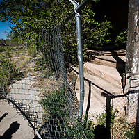 Many fences at Fort Wingate have openings, allowing animals and people entrance onto the fort.