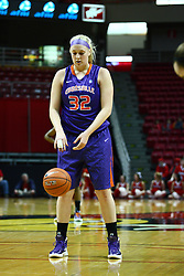01 January 2012: Hannah Weedman takes her place for a free throw  during an NCAA women's basketball game between the Evansville Purple Aces and the Illinois Sate Redbirds at Redbird Arena in Normal IL