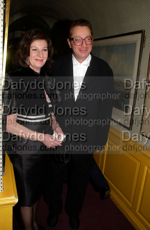 Lord and Lady Maurice Saatchi. Artists Independent Networks  Pre-BAFTA Party at Annabel's co hosted by Charles Finch and Chanel. Berkeley Sq. London. 11 February 2005. . ONE TIME USE ONLY - DO NOT ARCHIVE  © Copyright Photograph by Dafydd Jones 66 Stockwell Park Rd. London SW9 0DA Tel 020 7733 0108 www.dafjones.com