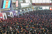 100,000 travellers left stranded at a Chinese train station