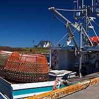 North America, Canada, Nova Scotia, Canso. Fisherman's Market Wharf Crab Fishing in Canso.