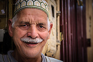 Portrait of a moroccan man in the streets of Fes el Bali, Fes, Morocco
